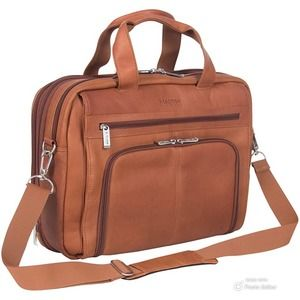Edmond Leather Deluxe Large Expandable Briefcase
